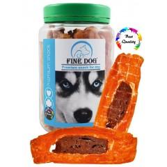 FINE DOG Filet kuřecí s kachním 300g DÓZA