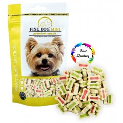 FINE DOG MINI Kalciové kostičky MIX 100g