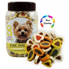 FINE DOG MINI Duo - Srdíčka Soft 300g