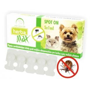 Herba Max Spot On pro kočky a psy malých plemen 5x1ml