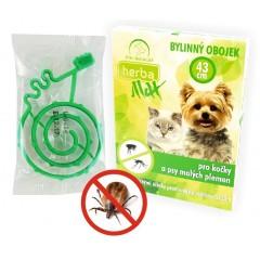 Herba Max Obojek pro kočky a psy malých plemen 43cm
