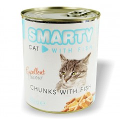 SMARTY Cat konzerva chunks Ryba 810g