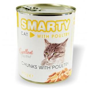 SMARTY Cat konzerva chunks Drůbeží 810g
