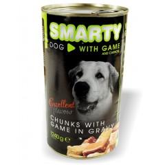 SMARTY Dog konzerva chunks Zvěřina 1240g