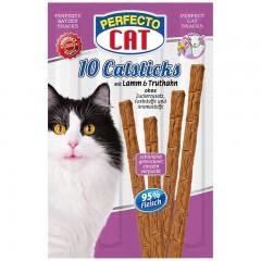 Perfecto Cat Masové tyčky jehně & krůta 10ks/50g