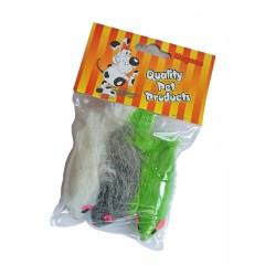 Hračka pro kočky myš velká 7,5cm / 3ks