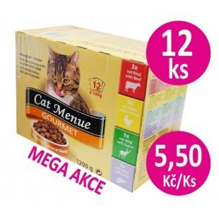 Cat Menue Gourmet Mix 12x100g