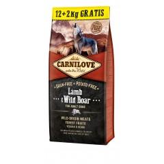 Carnilove Lamb & Wild Boar for Adult 12 + 2kg