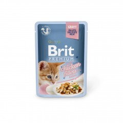 Brit Premium Cat Delicate Fillets in Gravy with Chicken for Kitten 85g