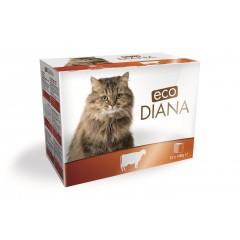 eco Diana cat kapsičky hovězí kousky v omáčce 12x100g