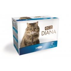eco Diana cat kapsičky rybí kousky v omáčce 12x100g