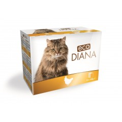 eco Diana cat kapsičky kuřecí kousky v omáčce 12x100g