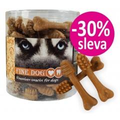 FINE DOG Zubní kartáček KUŘECÍ - malý 8,5cm / 50ks - dóza