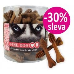 FINE DOG Zubní kartáček HOVĚZÍ - malý 8,5cm / 50ks - dóza