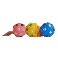 Gumový míček s tlapkou 7,5cm - HRAČKA