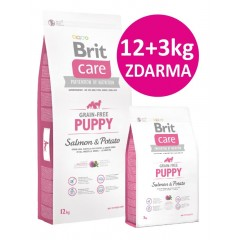"Brit Care Dog Grain-free Puppy Salmon & Potato 12kg ""AKCE +3kg Zdarma"""