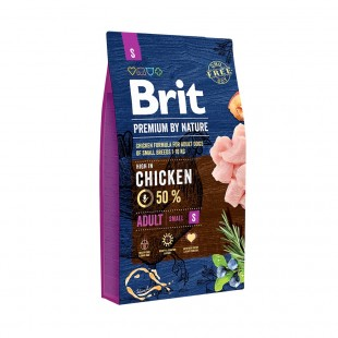 *NEW* Brit Premium DOG by Nature Adult -S- 8 kg