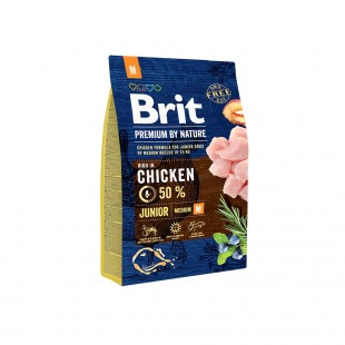 *NEW* Brit Premium DOG by Nature Junior -M- 3 kg