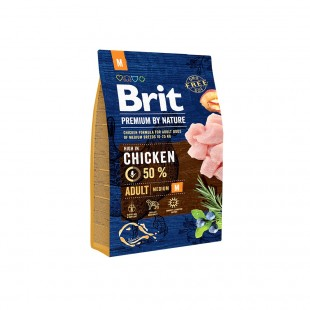 *NEW* Brit Premium DOG by Nature Adult -M- 3 kg