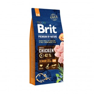 *NEW* Brit Premium DOG by Nature Senior -S+M- 15 kg