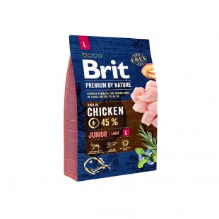 *NEW* Brit Premium DOG by Nature Junior -L- 3 kg