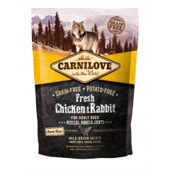 *NEW* Carnilove DOG FRESH Chicken & Rabbit for Adult 1,5kg