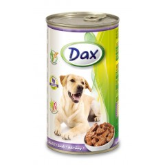 Dax KONZERVA kousky pro psa jehně 1240g