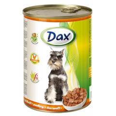 Dax KONZERVA kousky pro psa drůbeží 415g