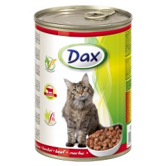 Dax KONZERVA kousky pro kočku hovězí 415g
