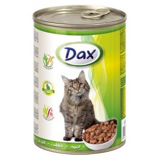 Dax KONZERVA kousky pro kočku králík 415g
