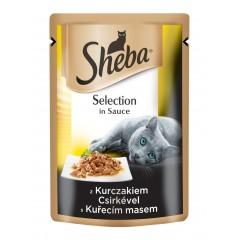 Sheba KAPSA pro kočky Selection s KUŘECÍM masem ve šťávě 85g