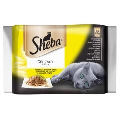 Sheba KAPSY pro kočky Selection DRŮBEŽÍ výběr PACK 4x85g