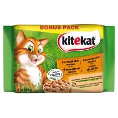 KITEKAT KAPSY pro kočky Farmářské menu ve šťávě PACK 4x100g