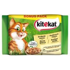 KITEKAT KAPSY pro kočky Drůbeží menu v želé PACK 4x100g