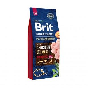 Brit Premium DOG by Nature Senior -L+XL 15kg + Sausage 800g *AKCE*