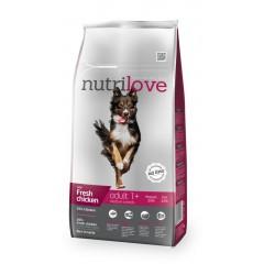 Nutrilove GRANULE pro psy Adult M s čerstvým kuřecím 8kg