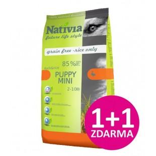 Nativia DOG Puppy MINI Duck & Rice 3kg