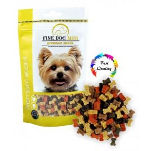 FINE DOG MINI Kostička mini Soft MIX 100g