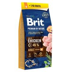 Brit Premium DOG by Nature Adult -M- 15+3kg *AKCE*