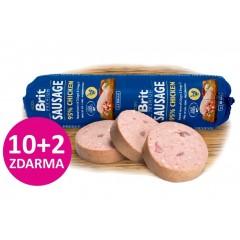 Brit-Sausage Chicken 800g *95% masa s droby*