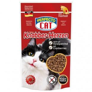 Perfecto Cat Feine Knabber-Snack s Alpským šťavnatým Hovězím - Anti-Hairball 50g