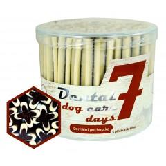 Dental  DOG Care 7 days dentální pochoutka s příchutí králíka 55ks - dóza