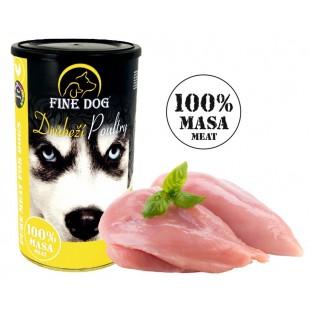 FINE DOG Konzerva DRŮBEŽÍ 100 % Masa 1200g
