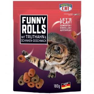 Perfecto Cat Funny Rolls s KRŮTÍM 180g