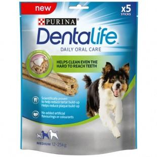 Purina Dentalife * MEDIUM * pro středně velké psy 5 tyčinek 115g