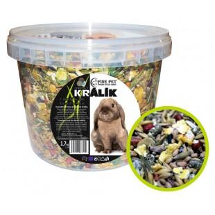 FINE PET Zakrslý Králík Premium 1,7kg - VĚDRO