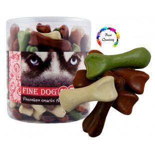 FINE DOG How Bone kostičky Mix 6cm/100ks - DÓZA