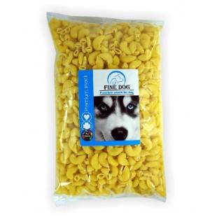FINE DOG Těstovina krmná žlutá kolínka 800g - SÁČEK