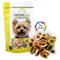 FINE DOG MINI Duo-Srdíčka Soft MIX 100g