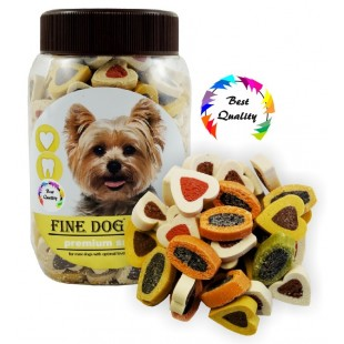 FINE DOG MINI Duo - Srdíčka Soft 300g - DÓZA